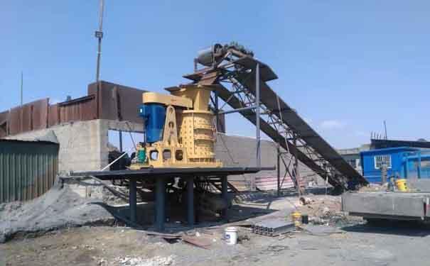湖beihuang石时产500吨he卵石制砂机客